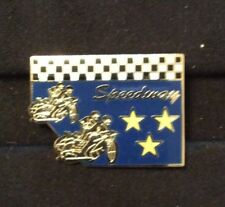 2016 SPEEDWAY GOLD BADGE WITH YELLOW STARS    ( EXCELLENT CONDITION )