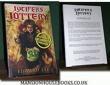 Edward Lee Lucifer's Lottery Cemetery Dance Proof / ARC - RARE Edition