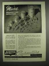 1943 Aerovox Mica Transmitting Capacitors Ad