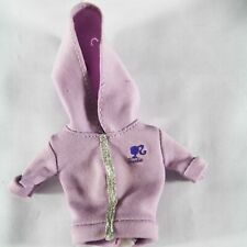 Barbie Light Purple Lilac Cotton Hooded Jacket with Barbie logo
