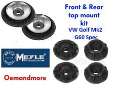 MEYLE FRONT & REAR TOP MOUNT SET WITH BEARINGS GOLF MK2 G60 SPEC FIT ALL MODELS