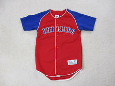 VINTAGE Jim Thome Philadelphia Phillies Baseball Jersey Youth Small Red Kids Boy