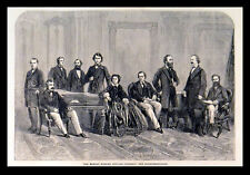MONDAY EVENING POPULAR CONCERTS: THE INSTRUMENTALISTS 1863 VICTORIAN ENGRAVING