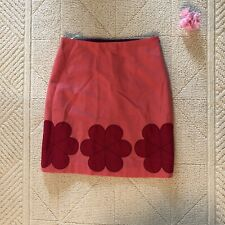 Boden Skirt Pink With Red Flower Sz 4