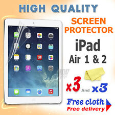 3 new High Quality Screen protective protection film foil for apple iPad Air 1 2