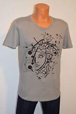 New Versace Collection Girocollo Grigio Nero Grey T-Shirt Large V7010 Graphic