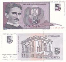 Ex Jugoslavia banconota del 1994 5 dinara FDS