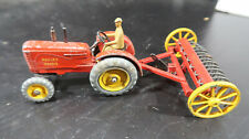 Dinky Massey Harris Farm Tractor and Cultivator