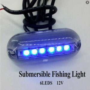 Lampe de fond de yacht de bateau marin à lumière sous-marine à LED DC12V 3W