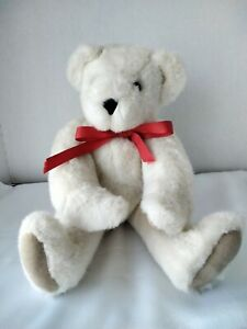 Vermont Teddy Bear White Poseable/Jointed Plush