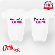 Twins Baby Grows -Twins Babygrows -Twin Girl Baby ClothesUK-Twins Baby Clothes