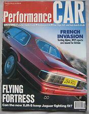 Performance Car 02/1992 featuring Jaguar, Porsche, Ginetta, MVS Venturi, Renault