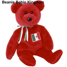 TY BEANIE BABIE * OSITO * THE RED MEXICAN TEDDY BEAR - USA EXCLUSIVE