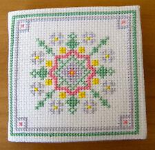 Géométrique Motif à fleurs Trousse à aiguilles point de croix kit par florashell