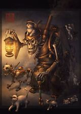 The Key Keeper Chinese Steampunk Print by James Ng
