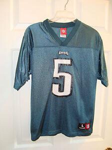 Reebok Philadelphia Eagles #5 Donovan McNabb Boys Football Jersey L 14-16 EUC