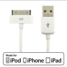 Apple iPad iPhone iPod 30Pin USB Sync and Charge Cable, 3FT/0.92M
