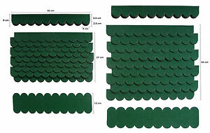 1-Set,Mini-Dachschindeln Grün,Pappe,Vogelhaus,Sandkasten,Holzgestell,Bastler