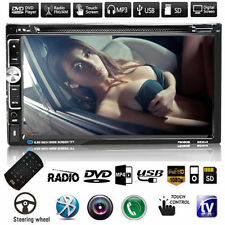7'' Double 2DIN In Dash Touch Car DVD TV Player Bluetooth Auto Stereo Radio USB