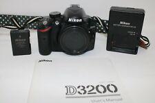 Nikon D D3200 24.2 MP Digital SLR Camera - Black (Body Only) 11K Click