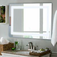"27.5"" LED Wall-Mounted Rect Mirror Makeup Bathroom Illuminated Mirror W/Touch"
