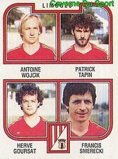 401 WOJCIK TAPIN GOURSAT SMERECKI LIMOGES.FC STICKER FOOTBALL 83 PANINI