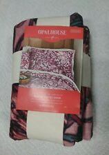 Opalhouse Pink Flower Velvet Standard Pillow Case Floral Sham Love In Mist New