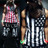 Men Gym Muscle Sleeveless Shirt Tank Top Sport Bodybuilding Flag Fitness Vest RD