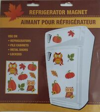 NEW Fall Thanksgiving Refrigerator Magnets Pumpkins Leaves ~ Owls FREE SHIPPING