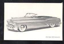 1952 BUICK 56C CONVERTIBLE CAR DEALER ADVERTISING POSTCARD