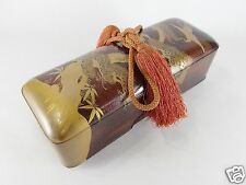 Japanese antique vintage pearskin lacquer wood Fumibako box papeterie chacha