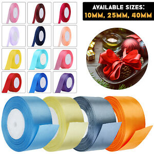 Double Sided Ribbons Birthday Wedding Gift Wrapping Shiny Ribbon Crafts Decor