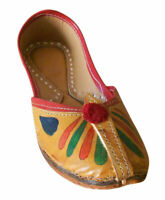 Women Shoes Handmade Indian Designer Ballerinas Brown Jutties UK 3 EU 35.5