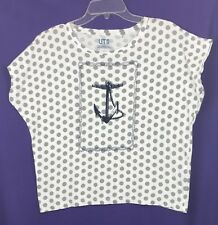 9bd1370c48ad15 Women s Uniqlo Thomaspaul Maritime Anchor Dolman Top - M