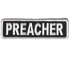 "PREACHER 3.5"" x 1"" iron on patch (3990) Biker Club Rank"