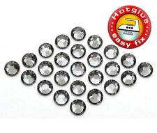 100 SWAROVSKI® Kristalle Hotfix Black Diamond SS6 (Strass-Steine zum Aufbügeln)