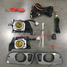 For Honda Civic 92-95 Factory Replacement Fit Fog Lights Wiring Kit Yellow Lens