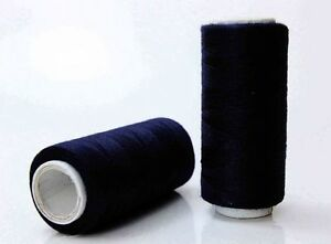 New 100% Polyester Standard Sewing thread each thread 200 Meters Black