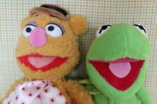 Disney Store The Muppets Show Fozzie Bear & Kermit The Frog Plushes