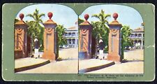 Antique StereoView Card - #204 The Governor, S.B. Dole - Honolulu - c.1898