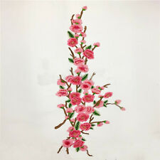 Stickerei Pfirsichblüte Nähen Auf Flecken Abzeichen Tasche Hut Jeans Kleid Appli