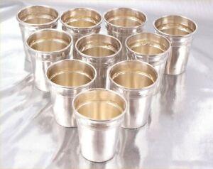 """original Louis COIGNET Paris """"10 cups for liqueur vodka """" 19th sterling silver"""