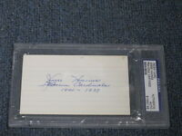 Jesse Haines Autographed 3x5 Index Card PSA Certified Encapsulated