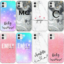 PERSONALISED INITIALS PHONE CASE MARBLE NAMES NEW BACK COVER FOR IPHONE 11 & XR