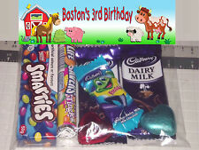 12 x Farm Animal Barn Yard Personalised Birthday Party Lolly / Loot Bags