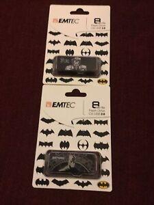 Emtec DC Comics BATMAN & JOKER 8GB Flash Drive 2.0 USB
