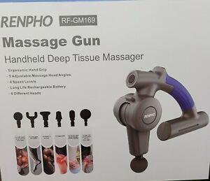 RENPHO Massage Gun, Muscle Massage, Deep Tissue, Adjustable Arm & 6 Attachments