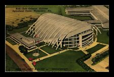 DR JIM STAMPS US STATE COLISEUM ALABAMA MONTGOMERY LINEN VIEW POSTCARD