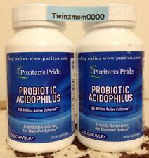 2 Bottles of Probiotic Acidophilus 100 Million Active Cultures 100 CAPSULES