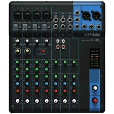 Yamaha MG10 10-Input 10-Channel XLR Output Stereo Mixer w Phantom Power